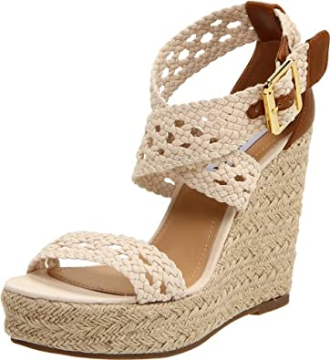 Steve Madden Women's Magestee Wedge Sandal,Natural,5.5 M US