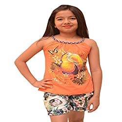 Titrit Orange strapy top for girls