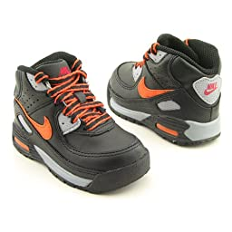 NIKE Little Max 90 Black Shoes Infant Baby Toddler SZ 5