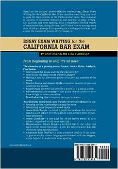 BARESSAYS.COM SERVICES FOR THE CALIFORNIA BAR EXAM