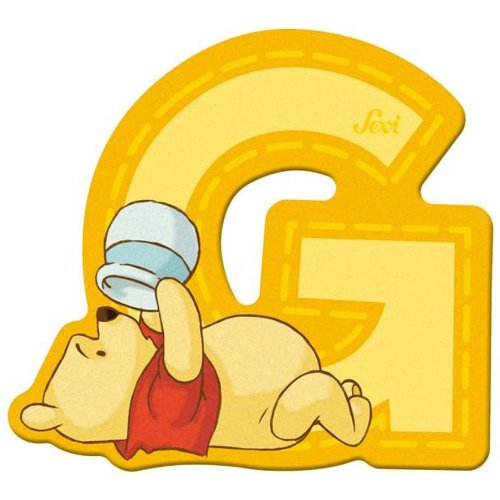 Sevi 82765 Klebebuchstabe G Winnie the Pooh