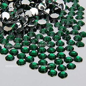 Leo-4Beauty - 10000 pcs 6mm 6.5mm Shiny Resin Rhinestone 14 Facets Gem Flat Back Crystal Beads DIY Beauty Nail Art Phone Case (Color: Crystal Clear N01)