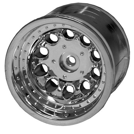 RPM Revolver 2.2 Truck Wheels, Traxxas Rear, Chrome