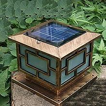 ASbeforeregLED Solar Fence Post LightSolar Bounding Light Garden LightLEH-43203Ay-40CmTYN  Warm Whit