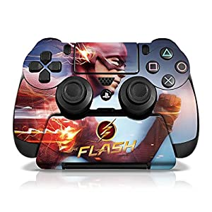 Controller Gear Officially Licensed WB The Flash Sony PS4 Controller & Stand Set Skins Electric Blue - PlayStation 4 - Multi-Color
