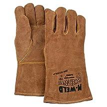 Majestic Glove 2101/8 Industrial Glove, Welders, Kevlar, Fire Retardant Liner, SM, Size 8, Brown (Pack of 12)