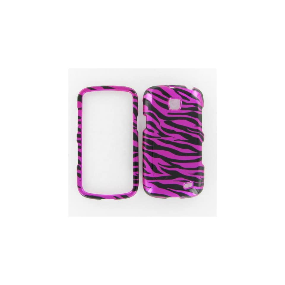 Samsung i110 Illusion Zebra on Hot Pink Hot Pink/Black Protective Case