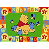Luxury Childrens Character Winnie The Pooh ABC Green Disney Rug/Mat
