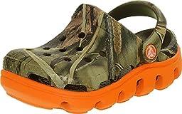 crocs 14077 Duet SPT RT Clog,Chocolate/Orange,8 M US Toddler