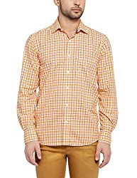 Colorplus Men's Casual Shirt (8907397516652_CMSS25767-Y5_Large_Medium Yellow)