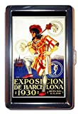 Spain 1930 Barcelona Jester Stainless Steel ID or Cigarettes Case (King Size or 100mm)