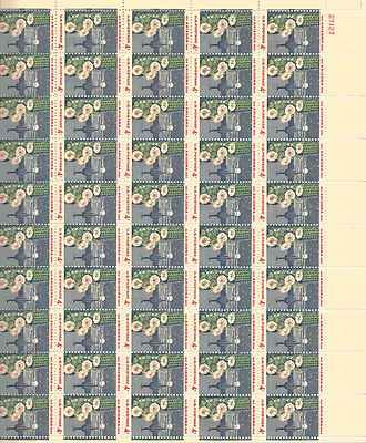 Arizona Giant Saguaro Cactus Sheet of 50 x 4 Cent Stamps Scott 1192 - 1