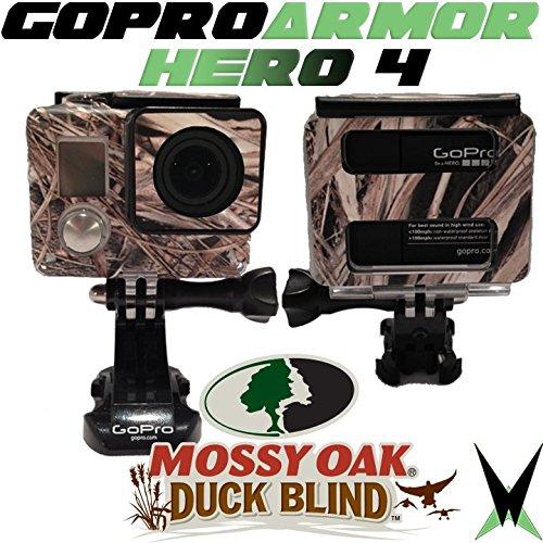 Gopro Hero 4 Housing Camo Skin Armor - Mossy Oak Duck Blind