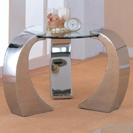 Cheap Retro Modern Style Chrome Plated Occasional End Table (VF_720057)
