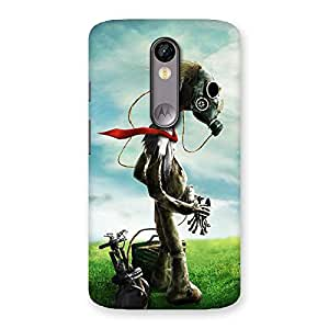 Weird Guy Back Case Cover for Moto X Force