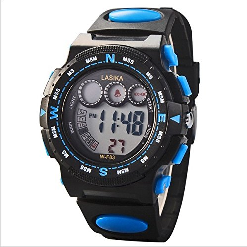 Children'S Watch Led Electronic Alarm Multifunctional 30M Waterproof Digital Sport Watches: 6 Colors Available