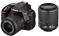 Nikon デジタル一眼レフカメラ D3300 ダブルズームキット2 ブラック