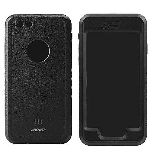Archeer iPhone6/6s ケース 防水 防雪 防塵 ケース 指紋認証可 保護等級IP68取得 耐衝撃 アイフォン6s カバー (黒)