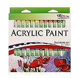 US Art Supply® 12ml Acrylic Tube Artist Paint Set (24-Tubes)