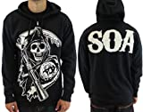 Sons Of Anarchy Grim Reaper Anarchy SAMCRO TV Show Zip Up Hoodie Sweatshirt Select Shirt Size: X-Large