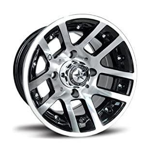 Fairway Alloys FA121 Illusion Machined Black Golf Car Wheel (10x7