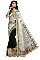 coolwomen women's georgette embroidered free size fancy saree-cw_NMD2A202_black_free size