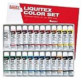 リキテックス アクリル 絵の具 リキテックスカラー レギュラータイプ 6号チューブ 24色セット 伝統色