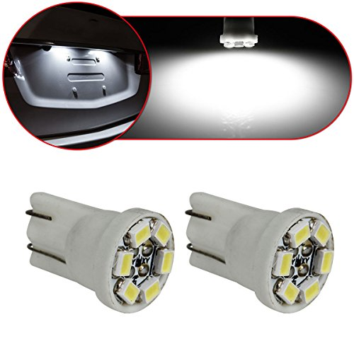 Partsam 2PCS T10 W5W Wedge 194 168 192 6 SMD LED License Plate Light Bulb, White (2014 Vw Beetle Parts compare prices)