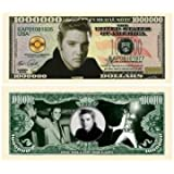Elvis Presley Million Dollar Bill With Bill Protector