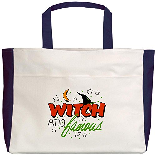 Royal Lion Beach Tote (2-Sided) Halloween Witch and Famous Hat
