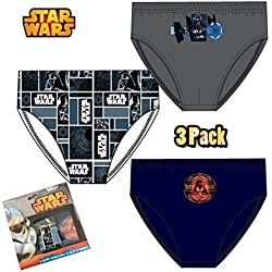 Bambini licenza ufficiale di Star Wars biancheria intima 3-Pack