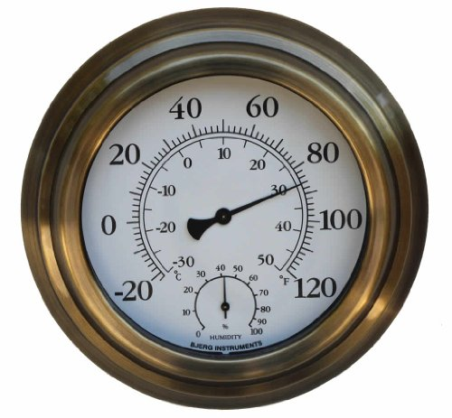 bjerg instruments 8 decorative indoor outdoor thermometer and hygrometer thermometers. Black Bedroom Furniture Sets. Home Design Ideas