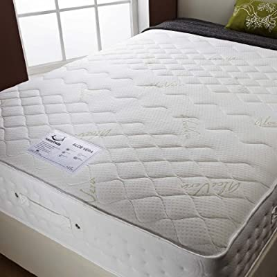 Happy Beds Aloevera Natural Memory Foam Pocket Sprung Mattress Bedroom Relax Sleep