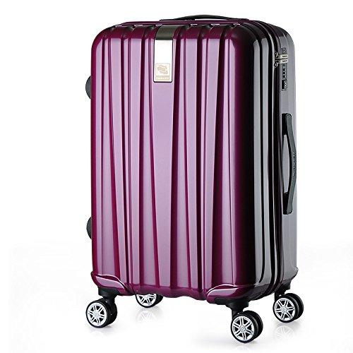 casa Monopoli Caster trolley valigia a bordo del telaio uomini e donne valigia ( colore : Viola )