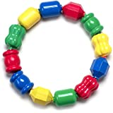 Fisher-Price Snap Lock Bead Shapes, 12 Colorful Beads