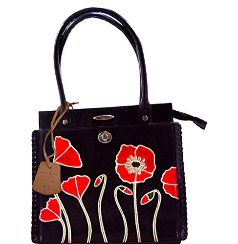 Flower Printed Genuine Leather C11340-1B