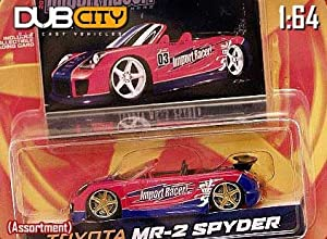 Jada Dub City Import Racer Red & Blue Toyota MR-2 Spyder 1:64 Scale Die Cast Car
