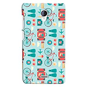 ColourCrust Micromax Unite 2 A106 Mobile Phone Back Cover With Holidays Pattern Style - Durable Matte Finish Hard Plastic Slim Case