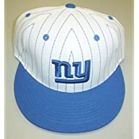 NEW York Giants Flat Bill Structured Fitted Reebok Hat Size 7 1/2