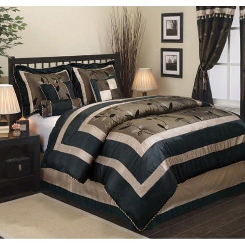 Luxury Textured Pastora 7 Piece Comforter Set   King Size