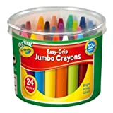 2 X Crayola My First Crayola Easy-Grip Jumbo Crayons 24