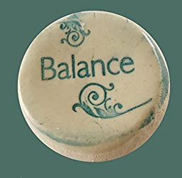 Balance Ceramic Stones Handmade Words And Phrases - Words