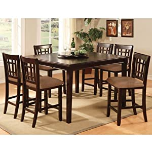 Kendall dark cherry finish counter height 9 for 9 piece dining room set counter height