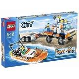 Lego - 7726 - Jeu de construction - LEGO City - Le camion des garde-côtes et son hors-bord