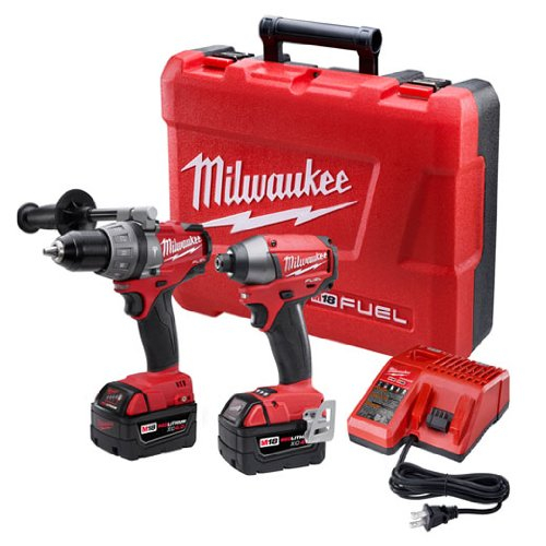 Milwaukee 2797-22 M18 Fuel Lithium 2-Tool Combo Kit includes Hammer Drill and  Hex Impact Driver (Milwaukee Tools Fuel Kit compare prices)