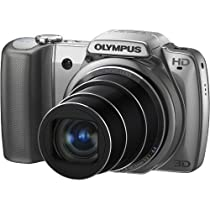"""Olympus SZ-10  14 MP Digital Camera with 28mm Wide-Angle 18x Optical Zoom and 3"""" LCD (Silver)"""