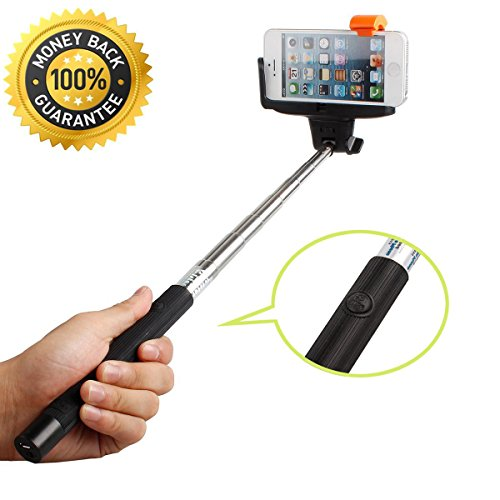 selfie stick urpower bluetooth monopod selfie stick self portrait pole with remote shutter. Black Bedroom Furniture Sets. Home Design Ideas