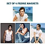 Set of 4 Ian Somerhalder SEXY HUNKS - The Vampire Diaries Fridge Magnets SET2by Calendarforall