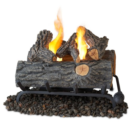 Learn More About Real Flame 18-Inch Convert-to-Gel Log Set, Oak