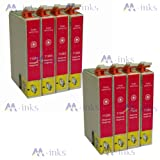 8x T1283 Magenta / Red printing Ink Cartridges compatible for Epson Stylus S22 SX125 SX130 SX420W SX425W SX430W SX435W SX440W SX445W & Epson Stylus Office BX305F BX305FW BX305FW Plus (8x T1283 Magenta)